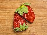 Fresh and tasty strawberries.