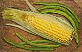 Green beans and corn.