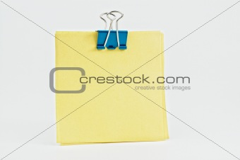 Post it with metal clip.