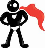 Super hero black icon