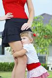 holding mama