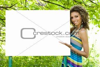 Advertising woman
