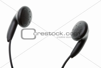 Headphones isolated against white