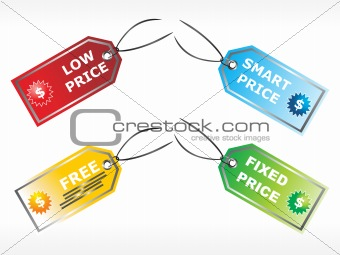 abstract vector price tags illustration