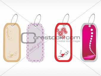 beautiful tags with love set 5