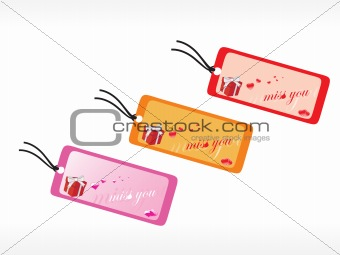 beautiful tags with love set 9