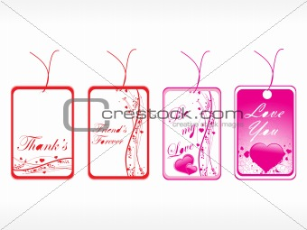 beautiful tags with love set 16