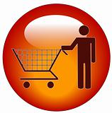 man shopping icon