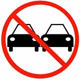 no cars passing sign