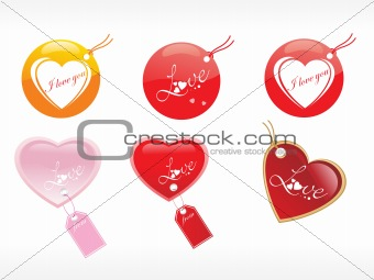 beautiful tags with love set 20