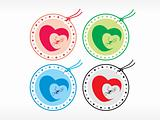 beautiful tags with love set 22