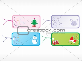 beautiful vector christmas tags set 1