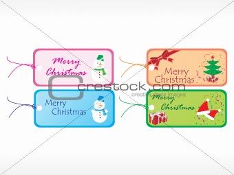 beautiful vector christmas tags set 3
