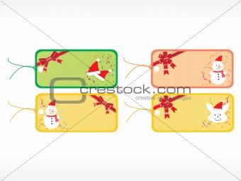 beautiful vector christmas tags set 6