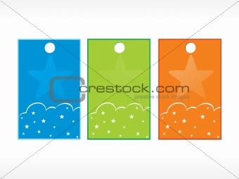 beautiful vector christmas tags set 7