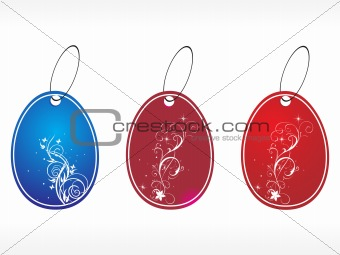 beautiful vector floral tags set 1