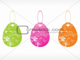 beautiful vector floral tags set 5