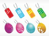 collection of beautifull shoping tags  red; blue; yellow; green; purple