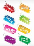 designer shoping tag in diffrent colors