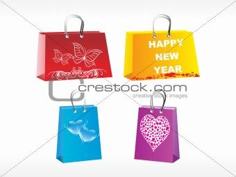 four diffrent designer bags vector