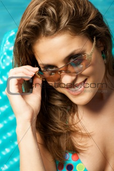 Beautiful woman in sunglasses.