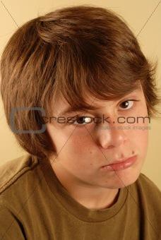 boy pouting