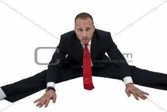 sitting businessman