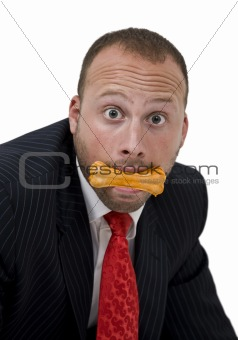 male with dog-biscuit