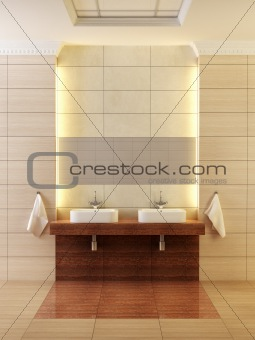 classic style bathroom interior