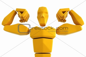 3d symbolic athlete