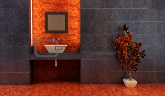 Chinese style bathroom interior