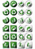 Recycle symbol stickers