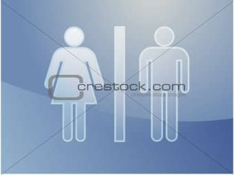 Toilet symbol illustration