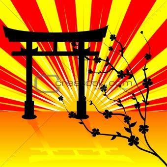 Torii gate background