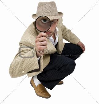 sitting detective