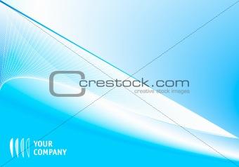 Blue corporate design template