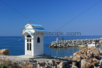 Tiny Chapel Over the Port Entrance