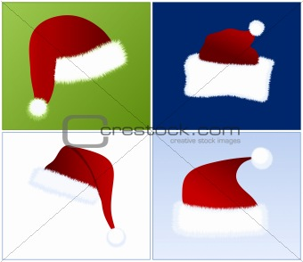 4 different Santa hats