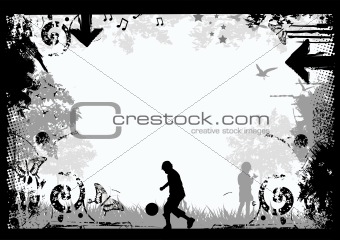 Grunge Border Background