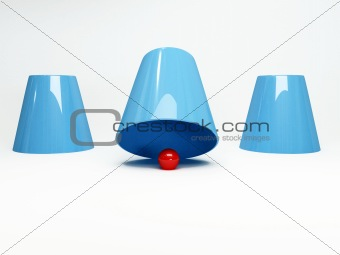 three cups game