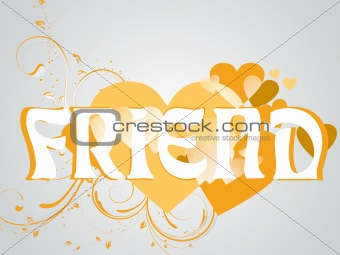 abstract vector friendship day series with floral in yellow