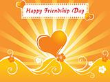 friendship day series with heart and floral, banner 19