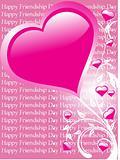 friendship day series with heart and floral, banner 20
