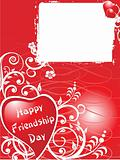 friendship day series with heart and floral, banner 21