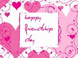 friendship day series with heart and floral, banner 26
