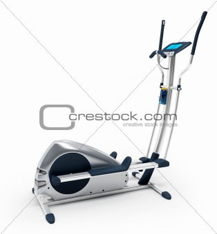 Elliptical stationary bicycle