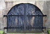 Old dark blue gate