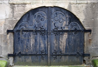 Old dark blue gate