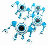 Group of Robots Looking Up DOF