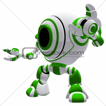 Small Robot Defense Pose